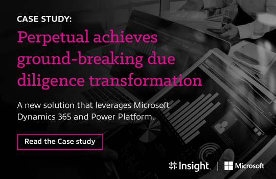 Case Study: Perpetual achieves ground-breaking due diligence transformation