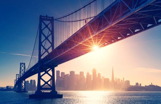 Photo of golden gate bridge over San Fransisco