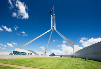 Photo of Parliament House in Canberra