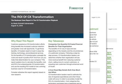 Building the ROI Business Case in CX Transformation