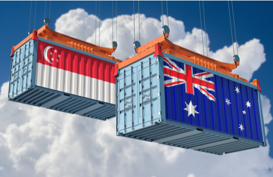 Singapore Australia Blockchain Trade Trial