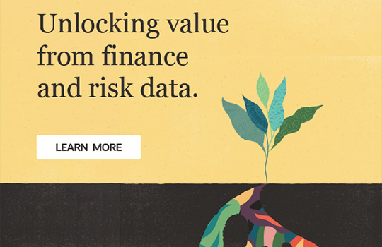 Unlocking value from finance and risk data